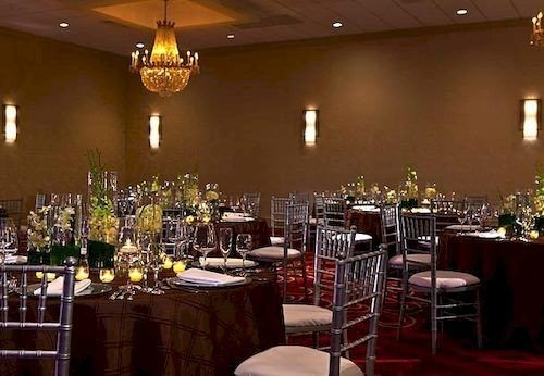 chair Dining function hall restaurant banquet wedding reception ceremony ballroom Bar Party set fancy dining table