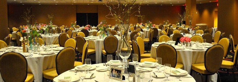 Dining function hall banquet dinner ceremony Party restaurant wedding reception ballroom Bar set dining table