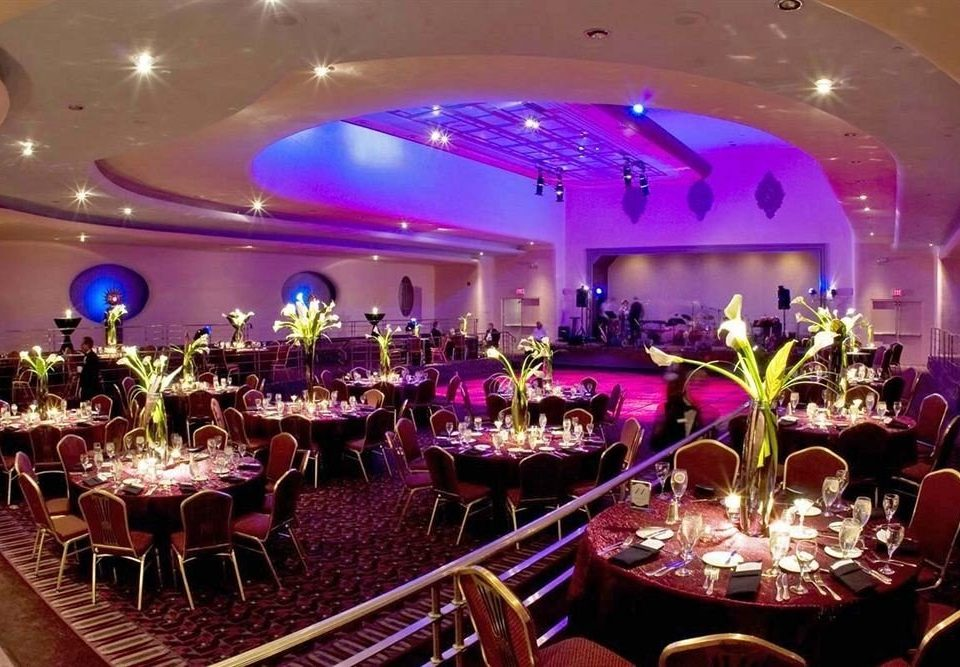 function hall banquet quinceañera Party wedding reception Dining ballroom convention center centrepiece nightclub restaurant purple Bar