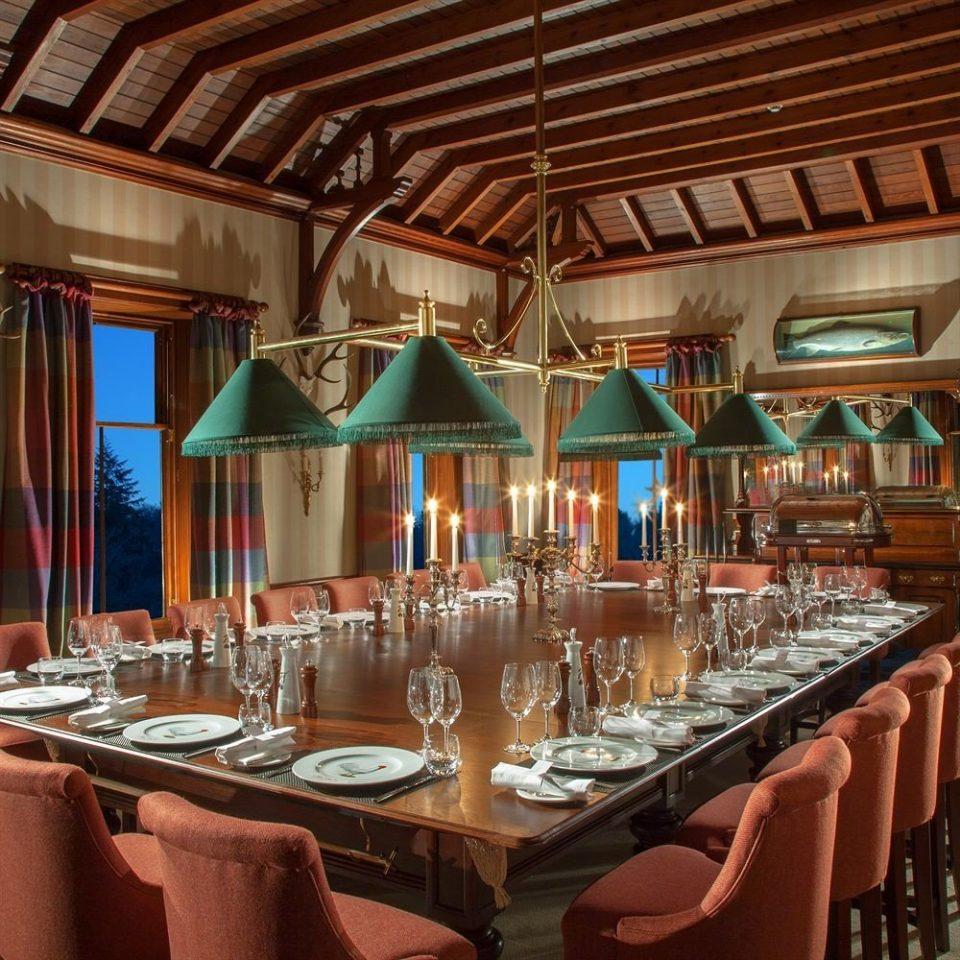 function hall restaurant Resort Bar ballroom Dining banquet set lined