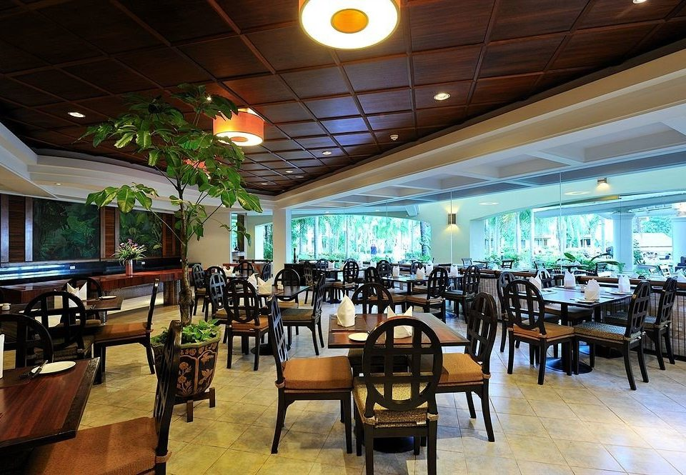 chair Dining restaurant function hall wooden Resort Bar food court café cafeteria