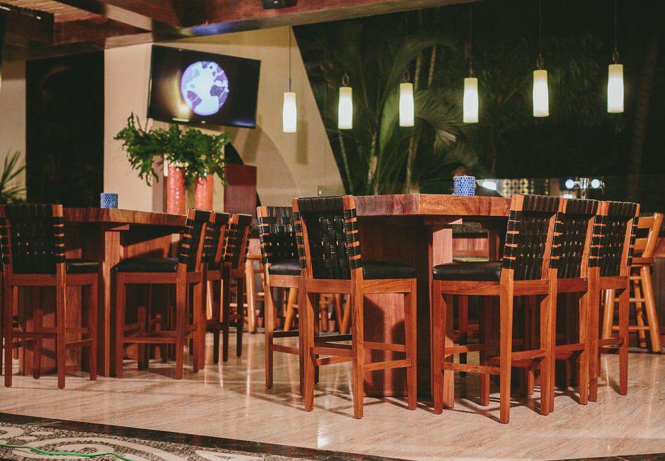 chair Dining restaurant wooden Bar Resort set dining table