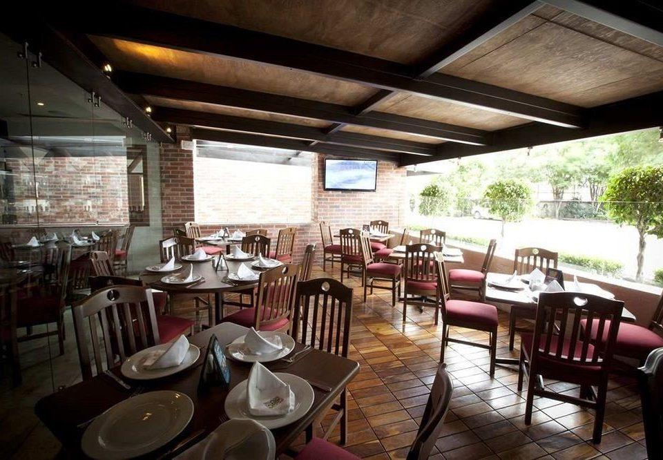 chair Dining restaurant Resort function hall Bar set dining table