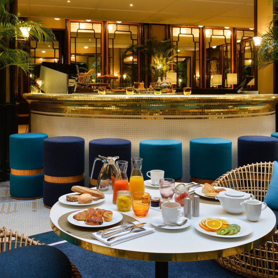 plate restaurant Resort Bar Dining function hall set dining table