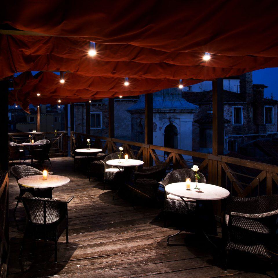 Dining Romance Romantic Rooftop restaurant lighting Resort Bar