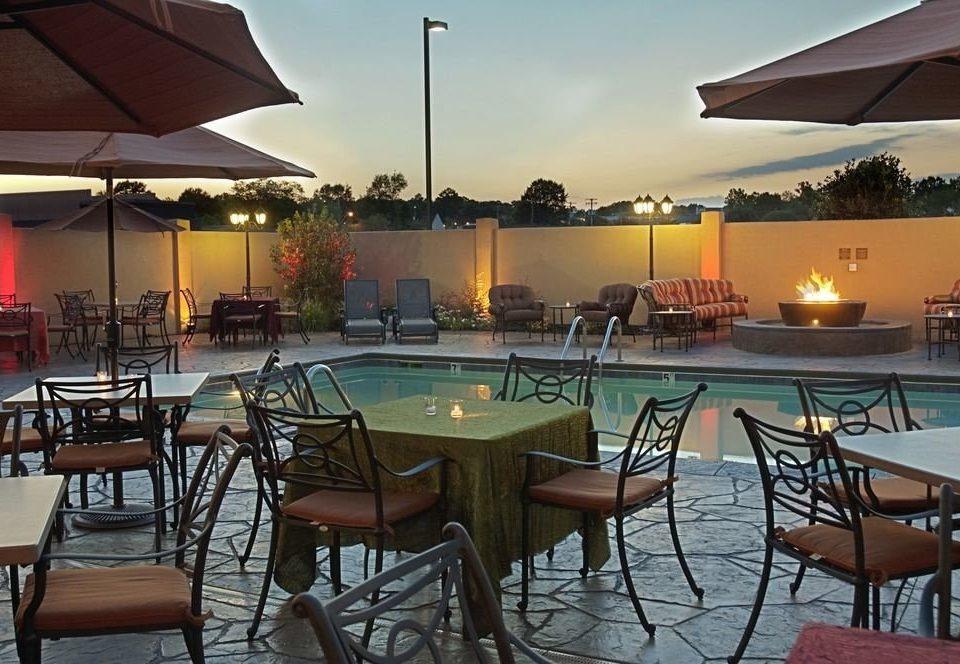 chair sky property Resort Dining restaurant Villa set Bar hacienda lawn day