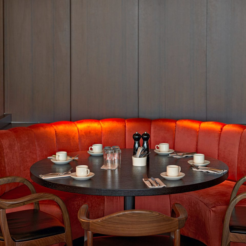 chair red restaurant orange Suite Dining Bar set dining table
