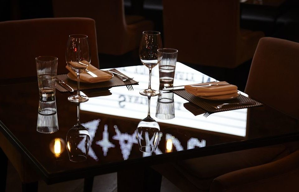 restaurant lighting dinner shape Bar set dining table
