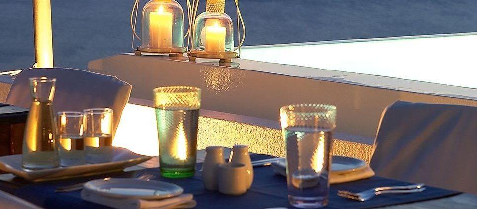 man made object restaurant lighting Bar dining table