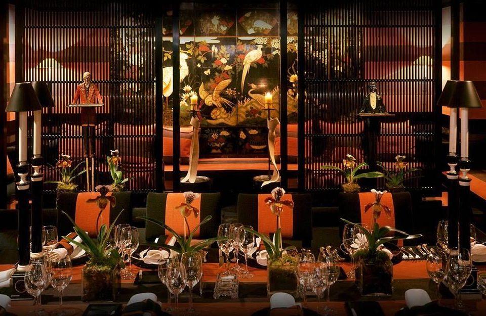 Bar restaurant night dining table