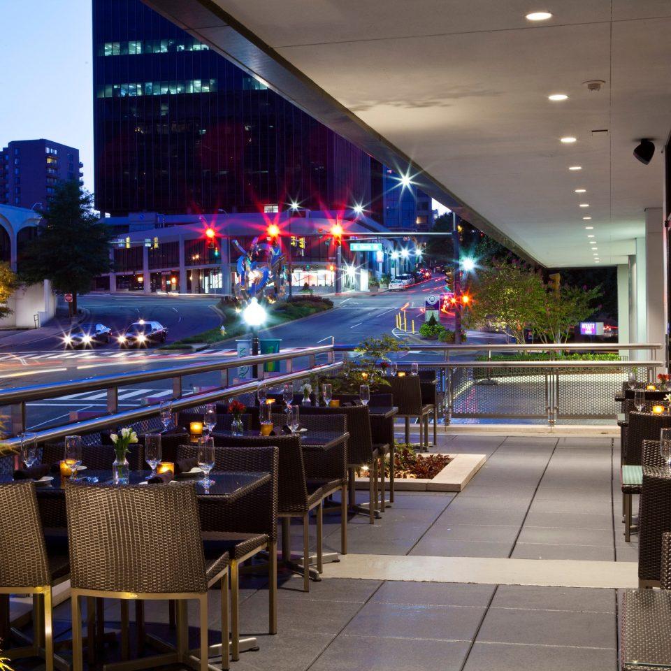 night restaurant Downtown light plaza shopping mall Bar convention center