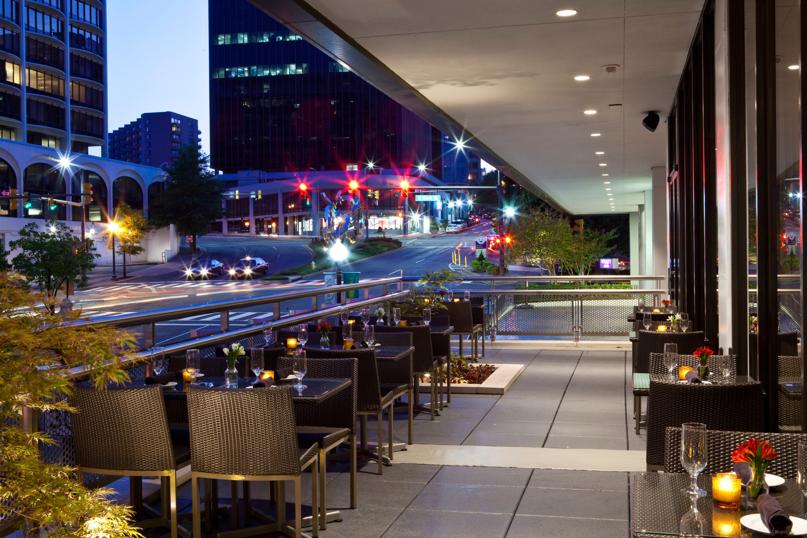 night restaurant Downtown light plaza shopping mall Bar convention center