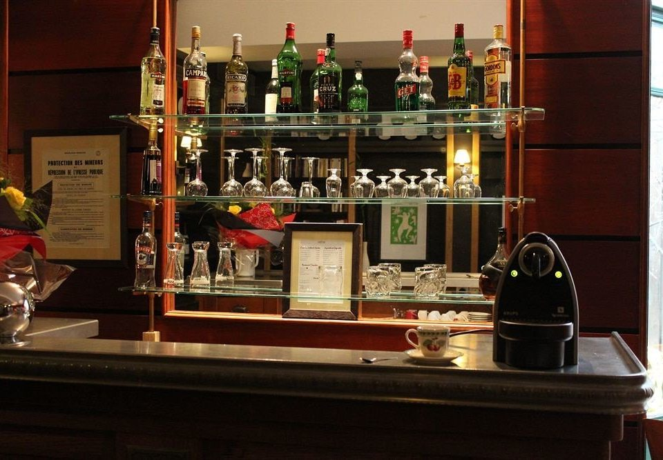 Bar restaurant Drink shelf counter cluttered
