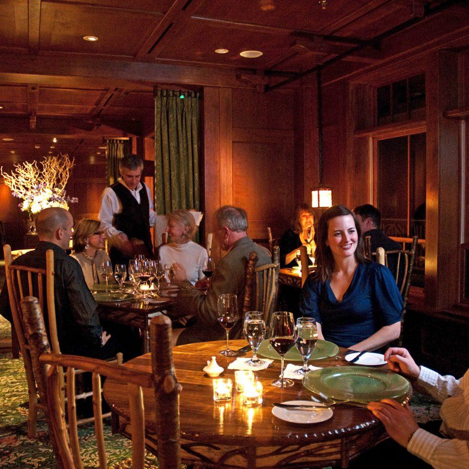 duplicate dinner restaurant evening Drink dining table Bar