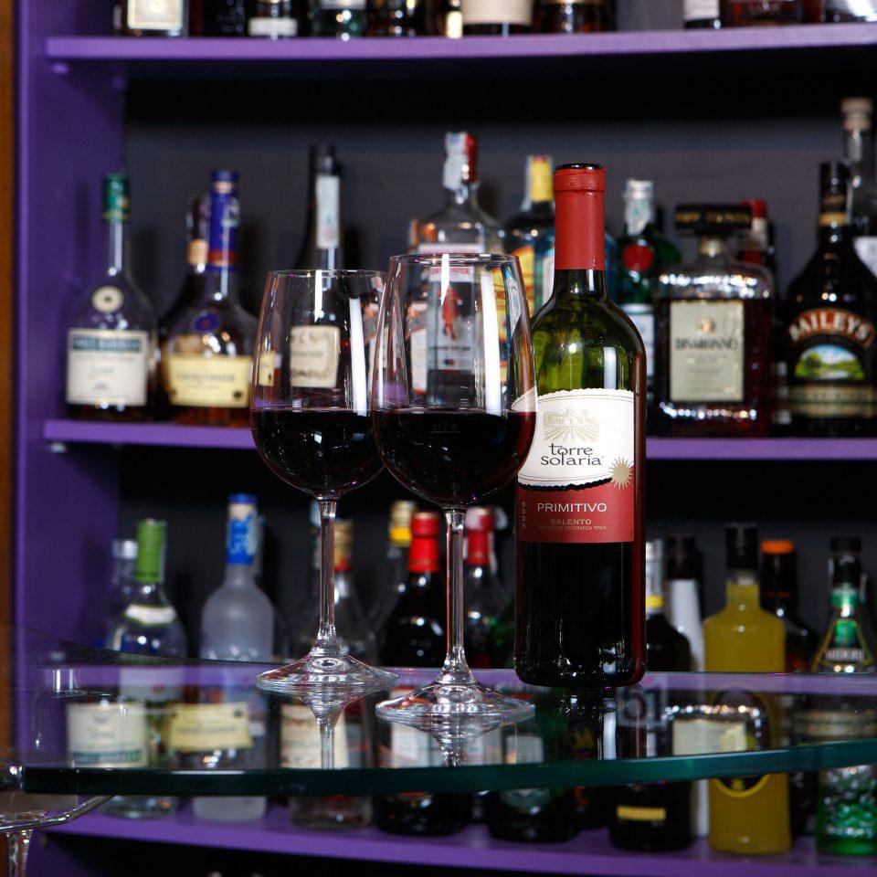 Bar Drink Hip Historic Luxury bottle alcoholic beverage shelf counter distilled beverage beer