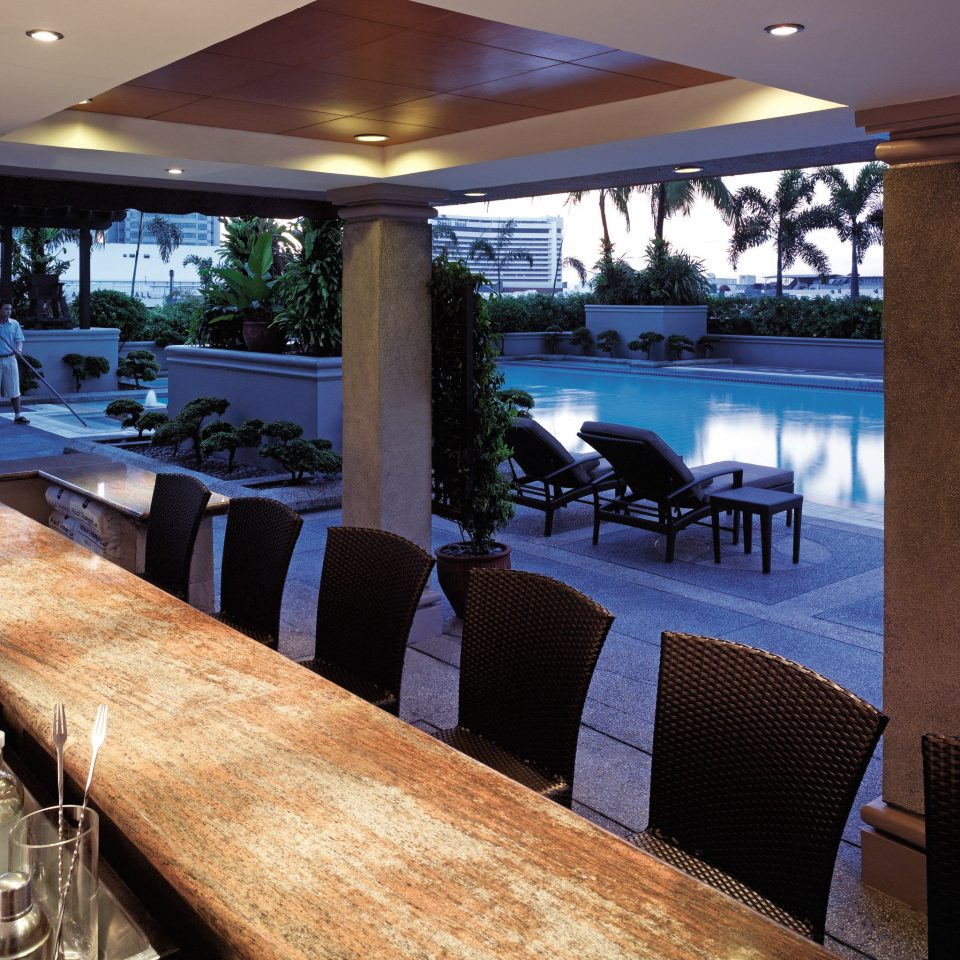 Bar Drink Hip Modern Patio Pool restaurant Resort home yacht overlooking colonnade