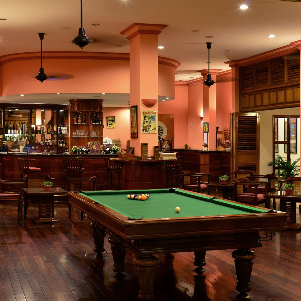 Bar Drink Jungle Resort River Tropical Waterfront billiard room recreation room pool table poolroom cue sports billiard table