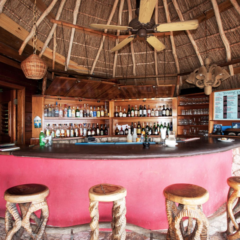 Bar Drink Romance Romantic Rustic Tropical Waterfront chair Resort restaurant home log cabin cottage mansion