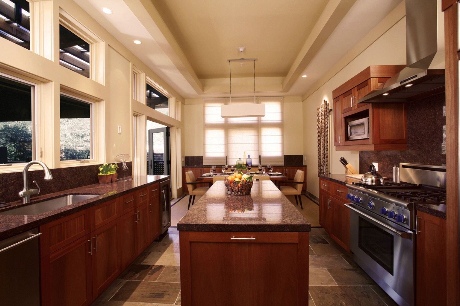 Eco Kitchen Luxury Ranch Romance Romantic Rustic Wellness cabinet property counter home cabinetry countertop Island hardwood cuisine classique sink mansion cottage living room wood flooring appliance stainless Modern Bar