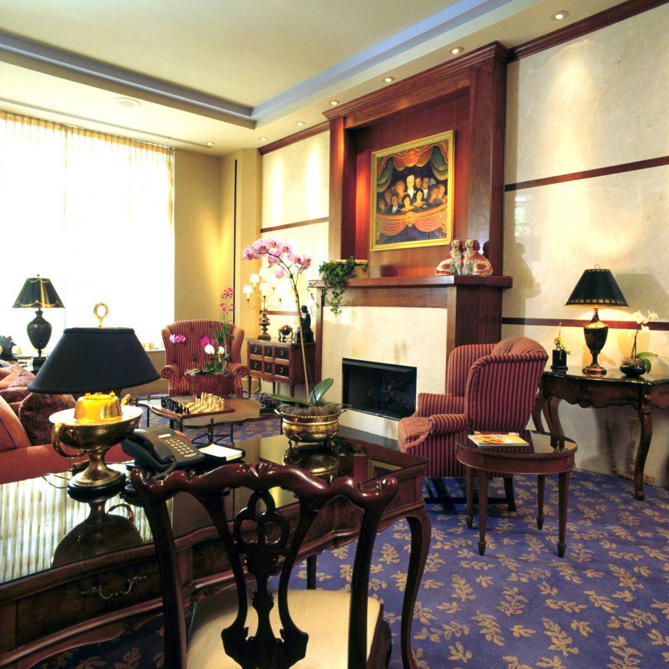 Elegant Fireplace Historic Lounge Modern recreation room restaurant Bar Lobby café