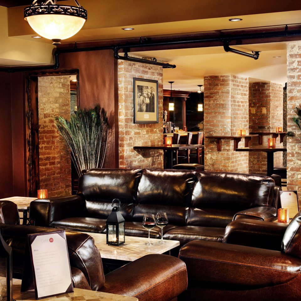 Elegant Historic Lobby Lounge sofa property restaurant living room Bar Fireplace leather home