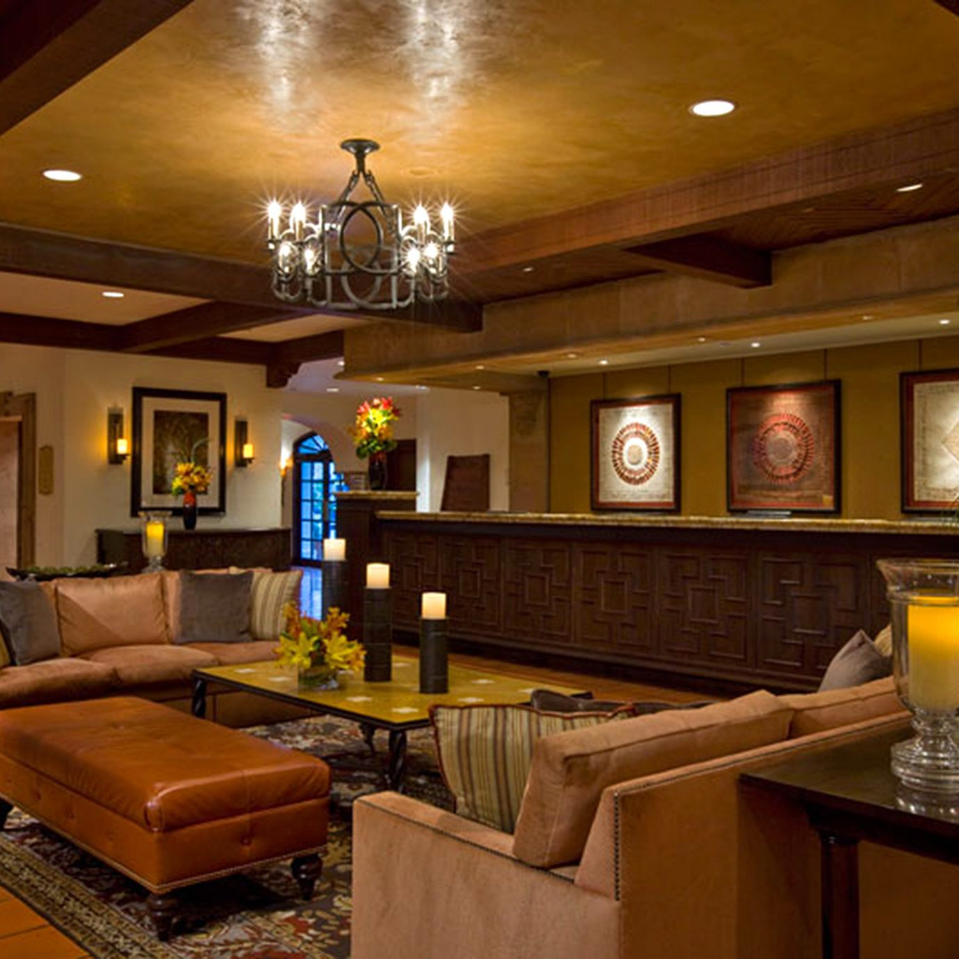 Elegant Lobby Lounge property home recreation room living room billiard room mansion lighting cottage Villa Resort Bar
