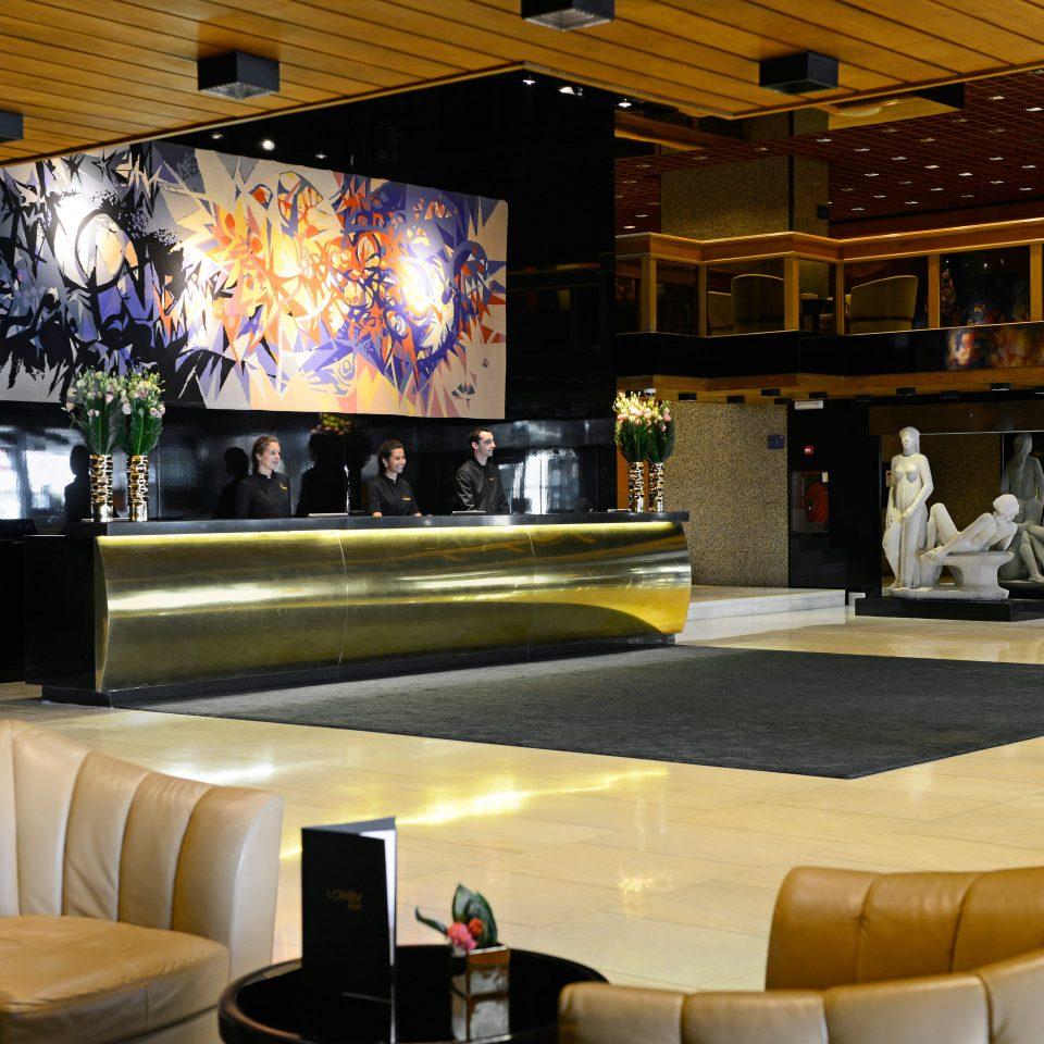 Elegant Lobby Lounge Luxury Modern recreation room function hall Bar restaurant