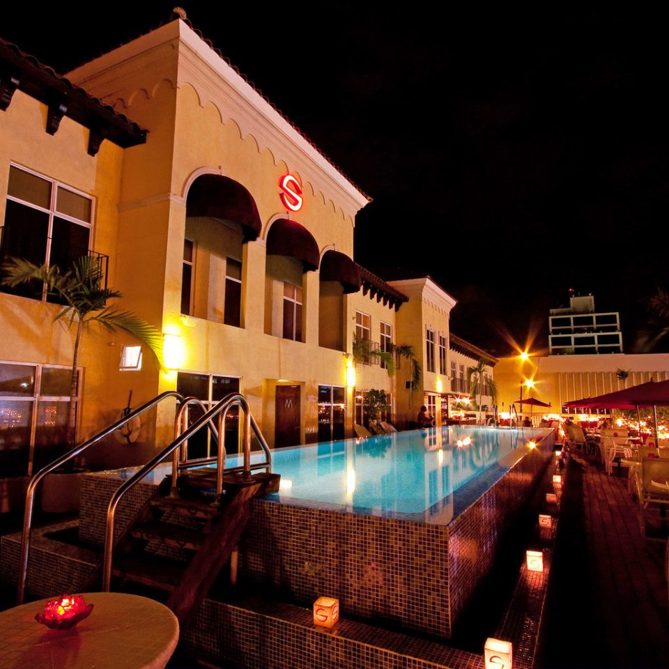 Exterior Island Pool night restaurant evening lighting Resort Bar
