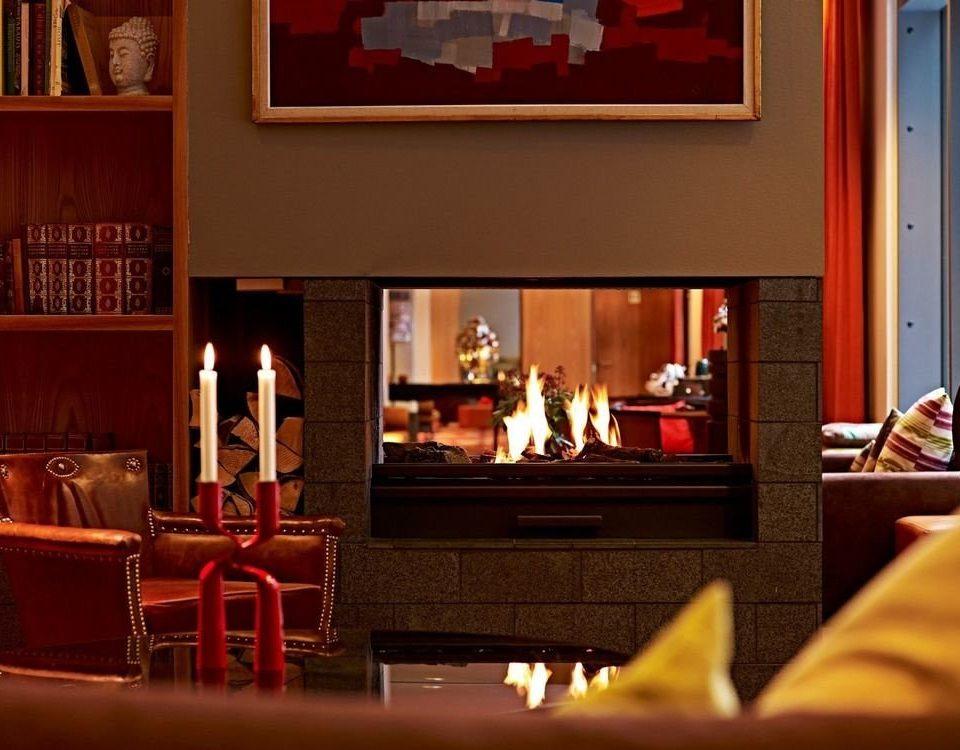 shelf restaurant home Bar living room Fireplace