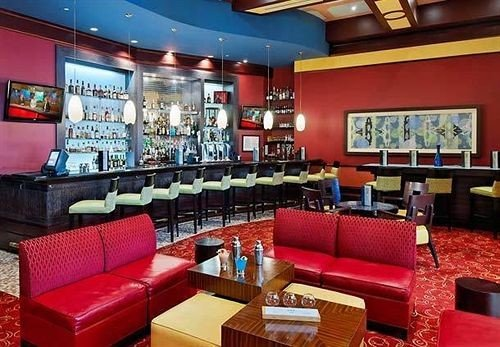 sofa red Bar restaurant recreation room function hall leather