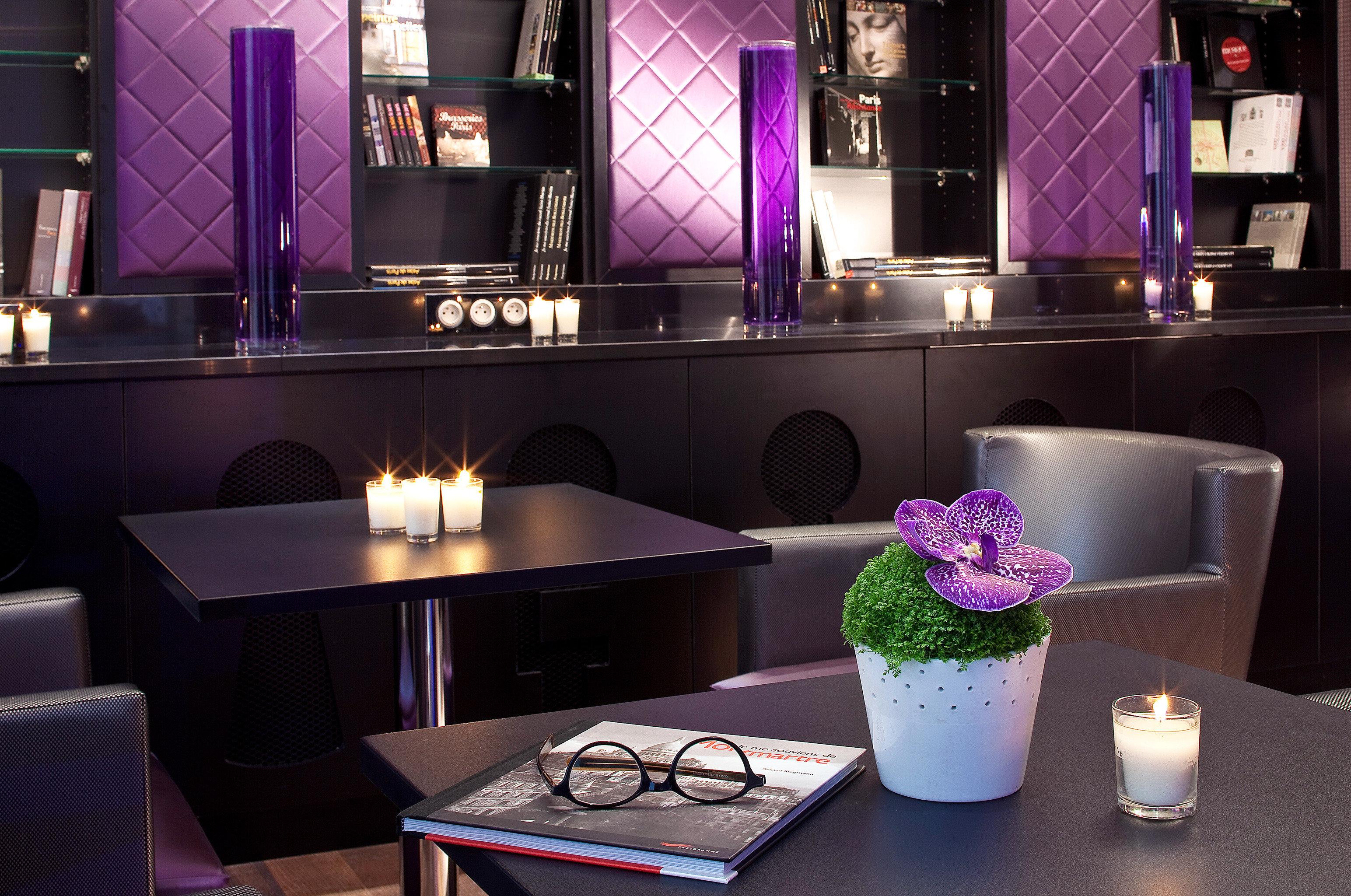 Grounds Hip Nightlife Play Romance Romantic purple Bar lighting restaurant Suite nightclub living room