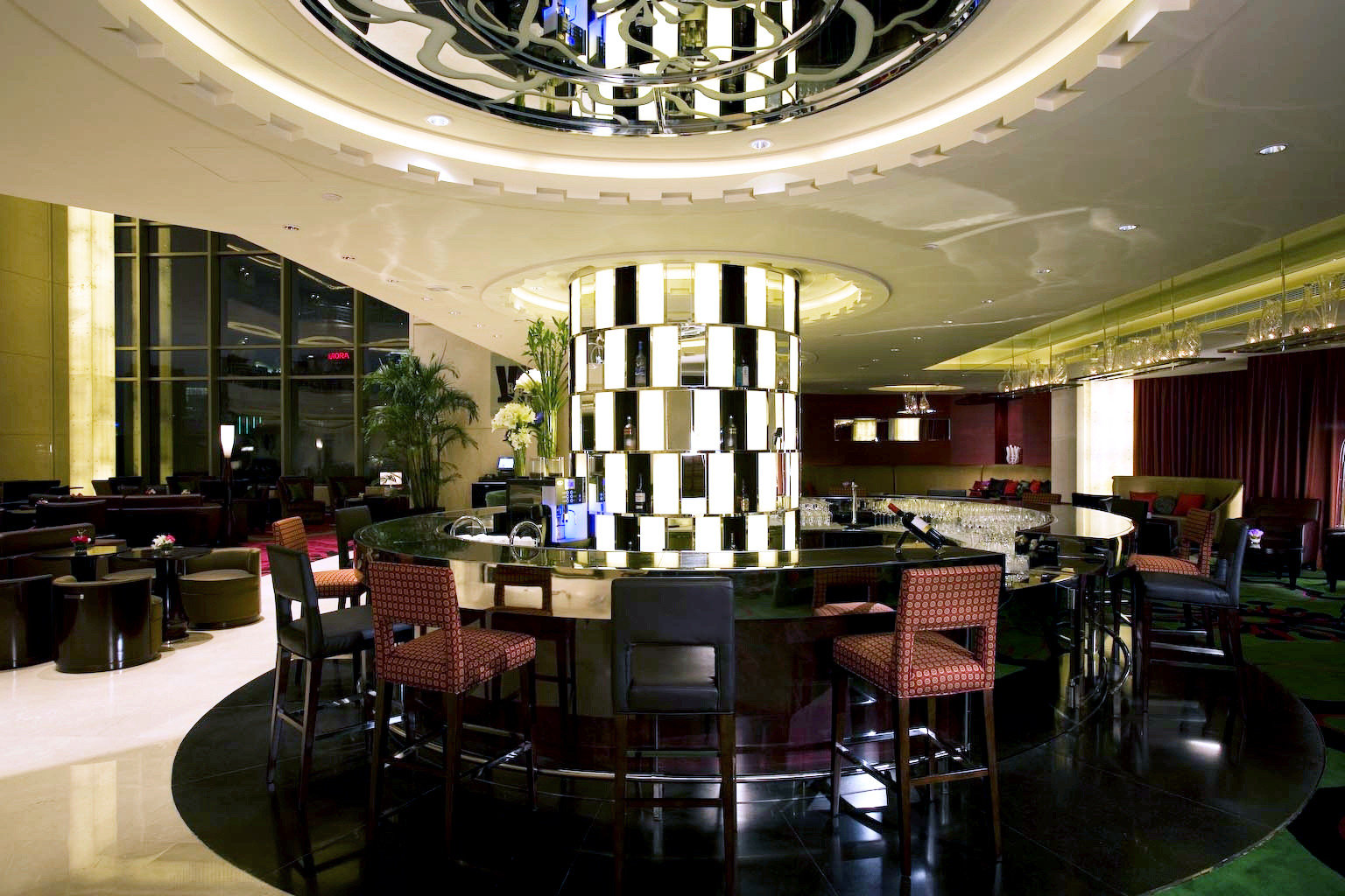 Hip Lounge Luxury Modern Lobby restaurant function hall Bar convention center