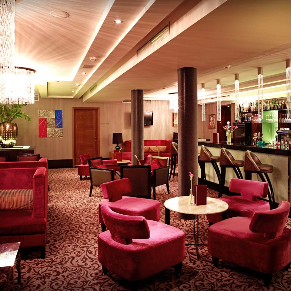 Hip Lounge Luxury red Lobby living room pink restaurant Bar
