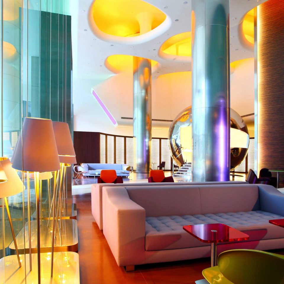 Hip Lounge Luxury Modern color restaurant Lobby lighting Bar Resort