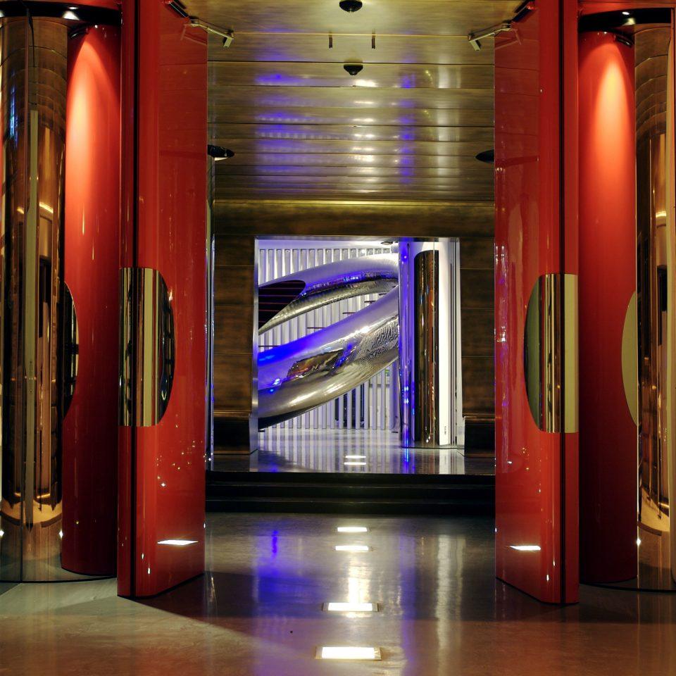 Hip Lobby Modern color red shelf lighting Bar public transport