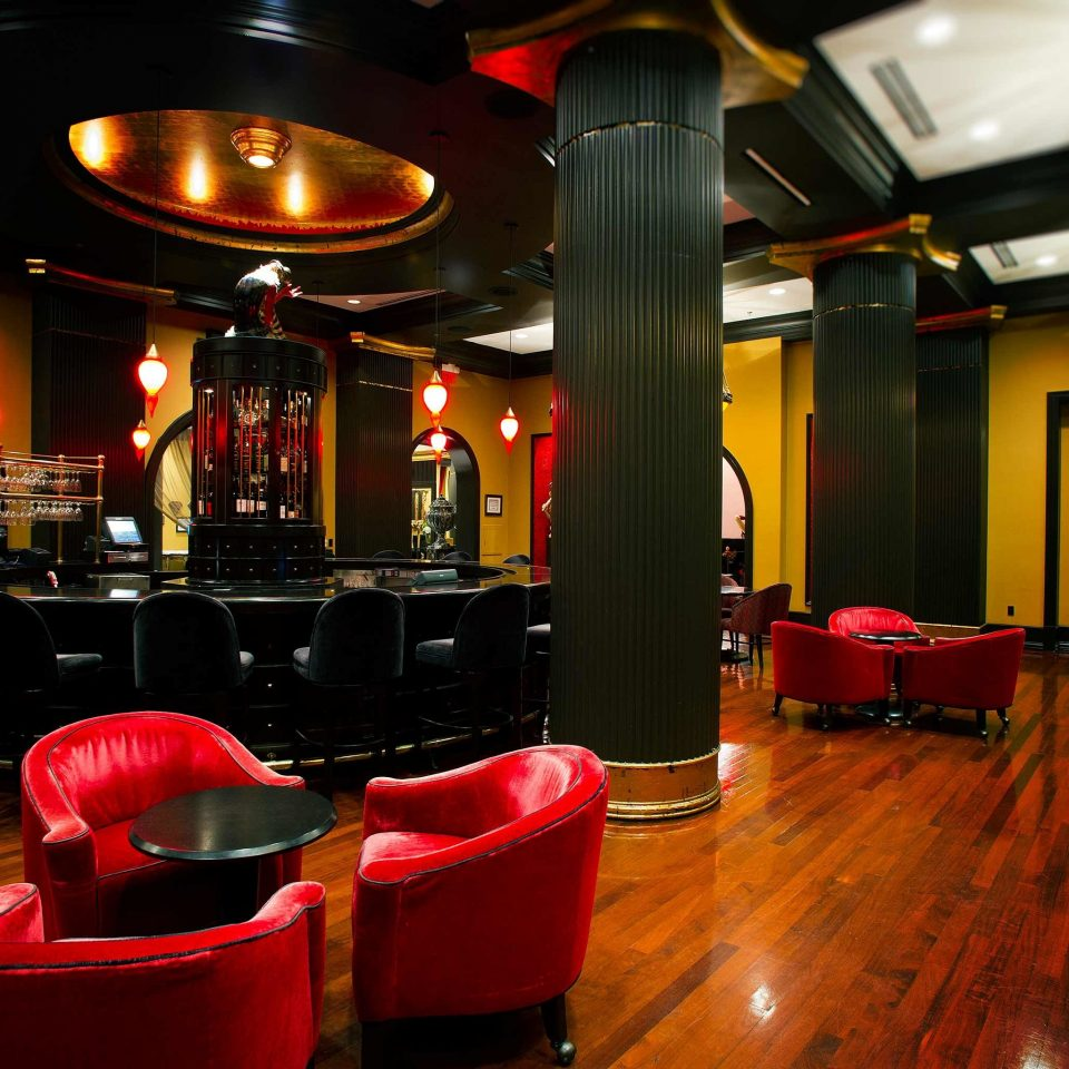 Hip Lounge Luxury Modern red Bar nightclub restaurant leather