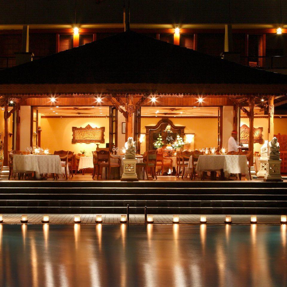Hip Lounge Luxury Modern Pool night function hall lighting evening Bar restaurant ballroom long