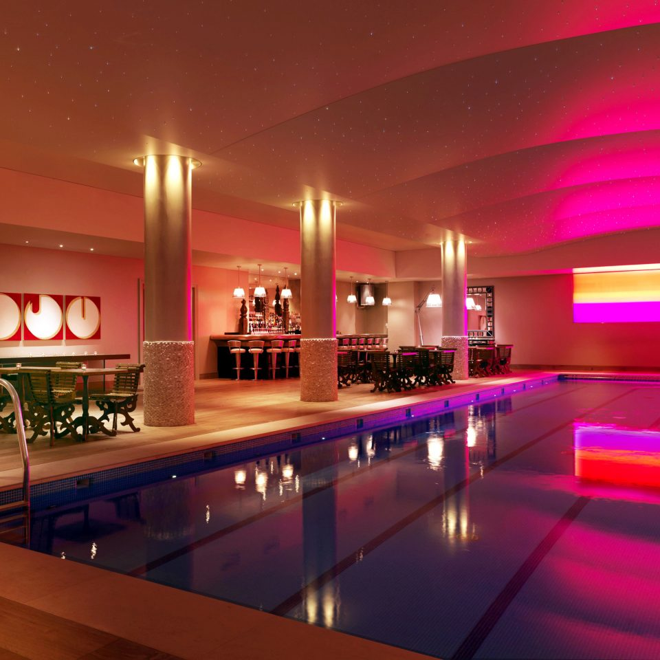 Hip Pool swimming pool nightclub function hall Bar platform long night steel