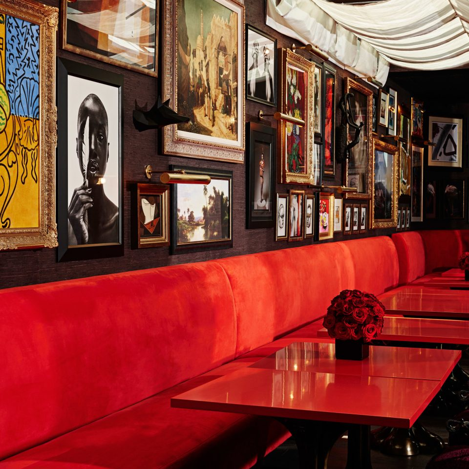 Hotels Bar restaurant red