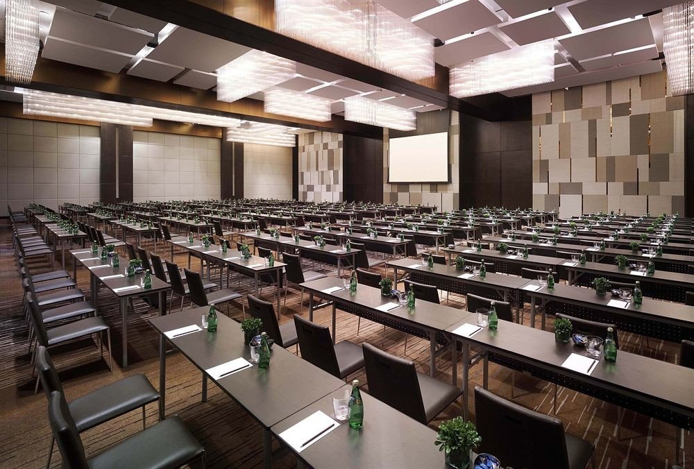auditorium conference hall convention center counter classroom function hall cafeteria restaurant Island stainless Bar appliance