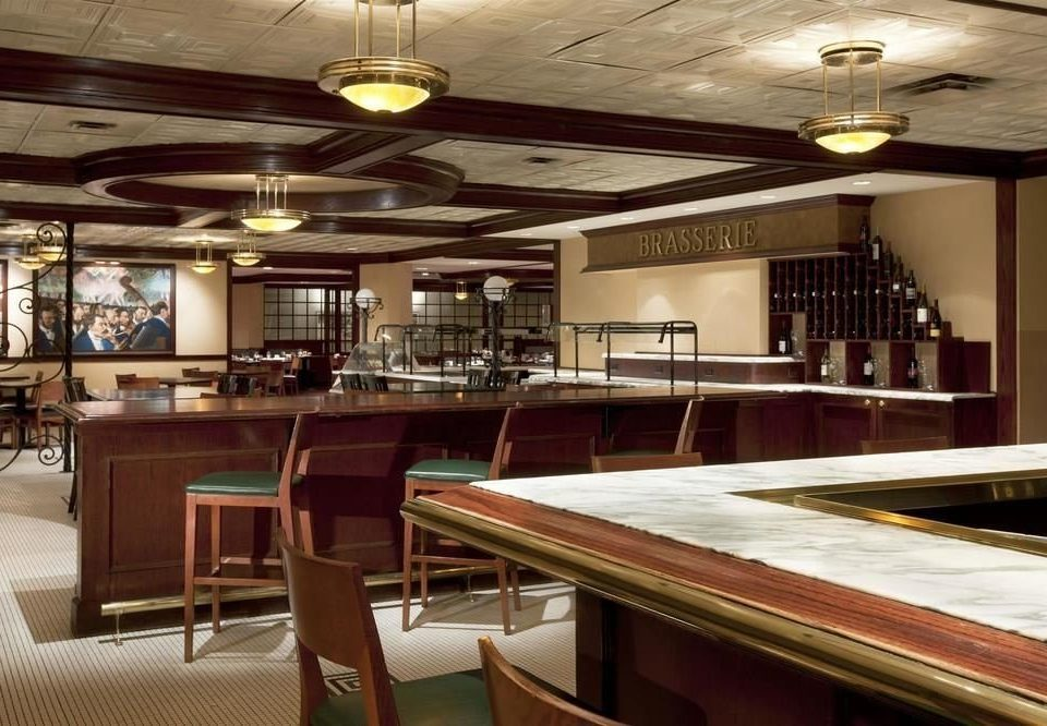 billiard room recreation room restaurant Bar function hall empty Island dining table