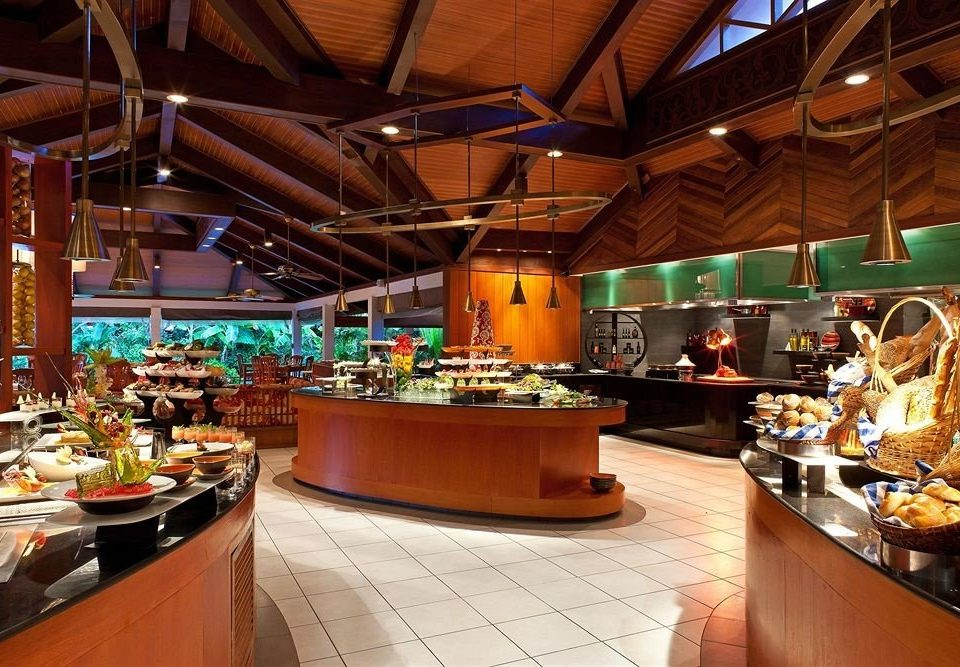 counter buffet restaurant Bar function hall Island