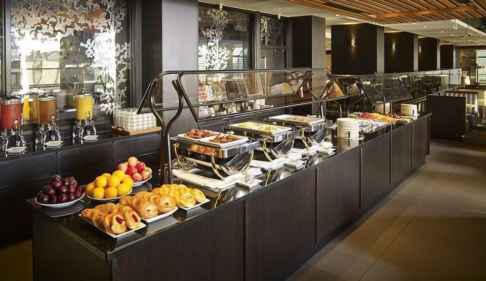Kitchen counter buffet food restaurant Bar brunch bakery Island