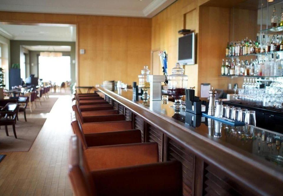 property Kitchen restaurant Bar long wooden counter Island