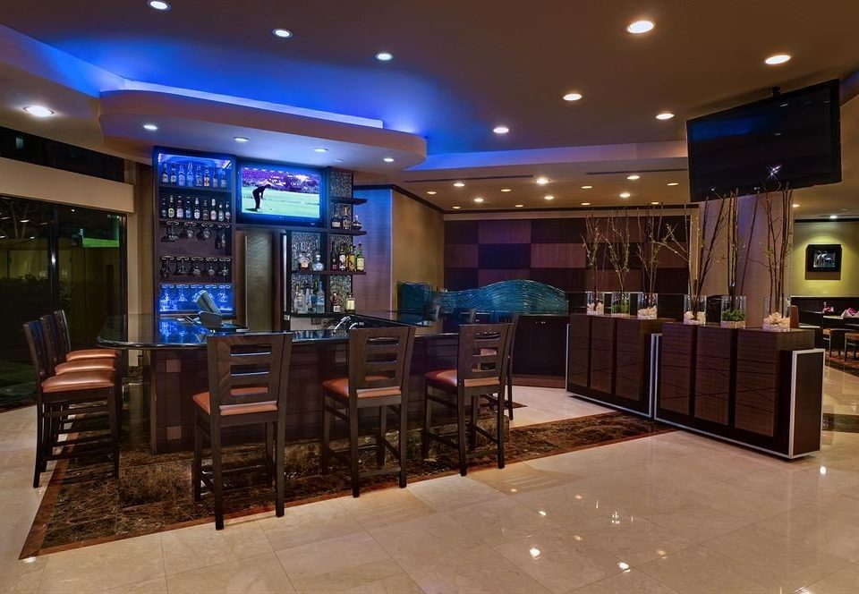 Lobby recreation room function hall Bar convention center Modern Island