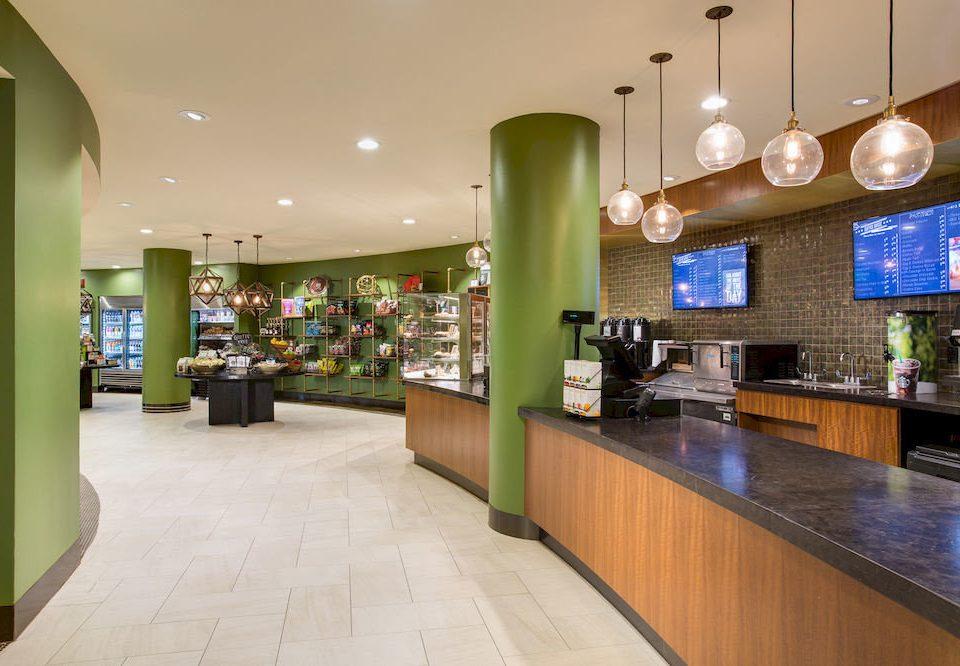 Lobby restaurant Bar green retail shopping mall food court Modern Island