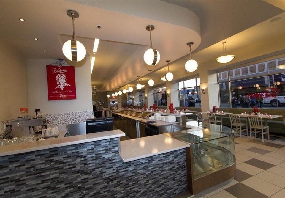 counter restaurant Bar food court cafeteria café stainless Modern Island