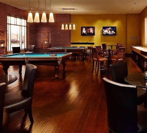 billiard room recreation room Bar billiard table Resort Island restaurant