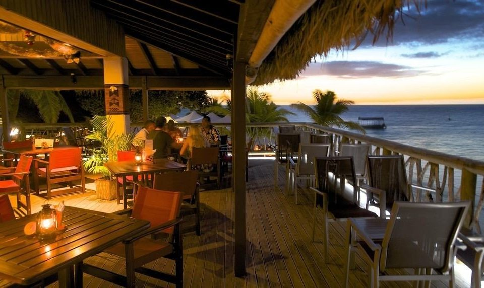 chair restaurant Resort Bar overlooking Island