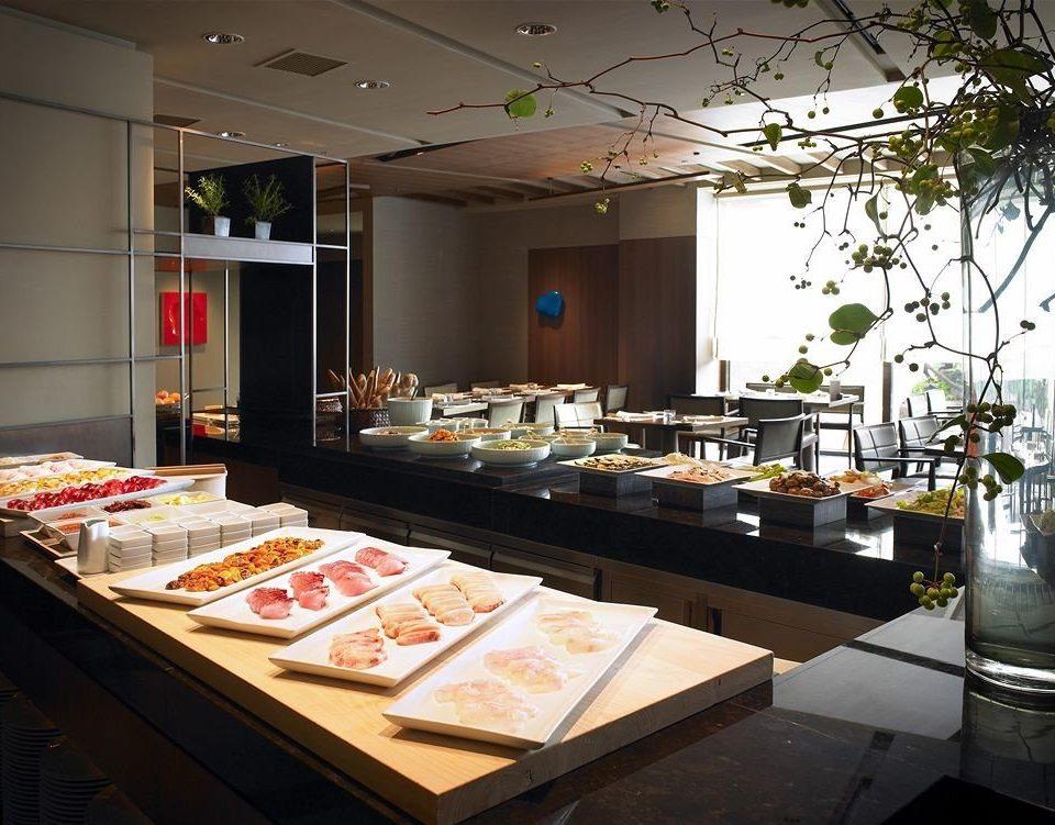 counter restaurant buffet food café Bar Island Shop